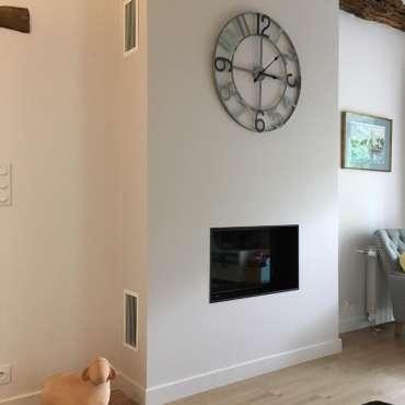 Installation d'un foyer à bois Fondis